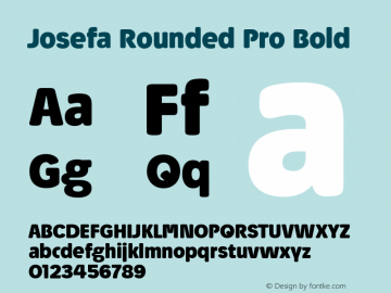 Josefa Rounded Pro Bold Version 1.007图片样张