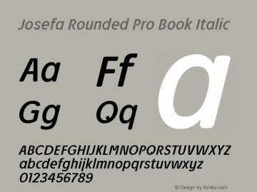 Josefa Rounded Pro Book Italic Version 1.011图片样张