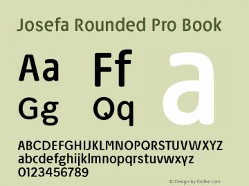 Josefa Rounded Pro Book Version 1.007图片样张