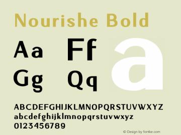 NourisheBold-Regular 1.000图片样张