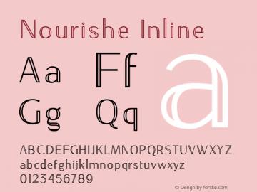 NourisheInline-Regular Version 1.000图片样张