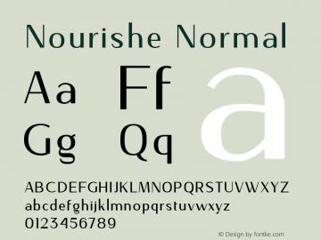 NourisheNormal-Regular Version 1.000图片样张