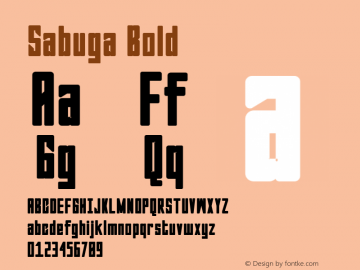 Sabuga-Bold Version 1.000图片样张