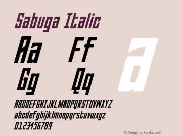 Sabuga-Italic Version 1.000图片样张