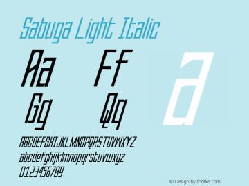 SabugaLight-Italic Version 1.000图片样张