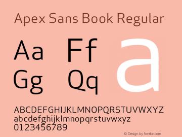Apex Sans Book Regular Version 6.000 2007 revised OpenType release图片样张