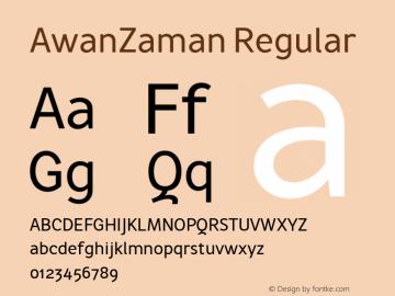 AwanZaman-Regular Version 1.017; ttfautohint (v1.5.34-1b95)图片样张