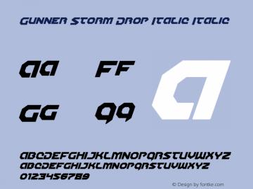 Gunner Storm Drop Italic Italic Version 1.00 July 26, 2016, initial release图片样张