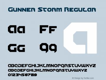 Gunner Storm Version 1.00 July 26, 2016, initial release图片样张