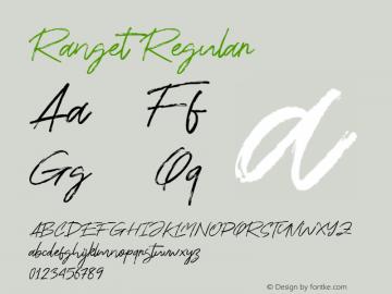 Ranget Version 1.000图片样张
