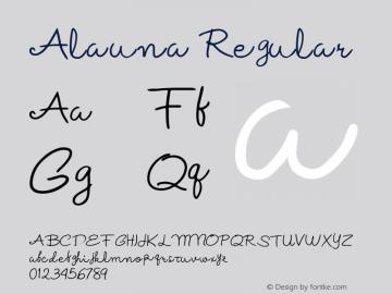 Alauna Regular Version 1.000图片样张