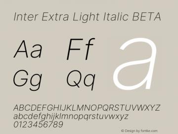 Inter Extra Light Italic BETA Version 3.005;git-f04932174图片样张