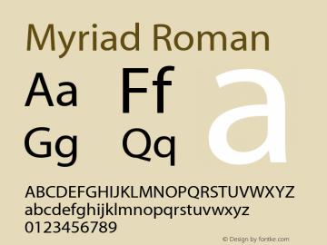 Myriad  Roman Fontographer 4.7 4/18/08 FG4M0000001208图片样张