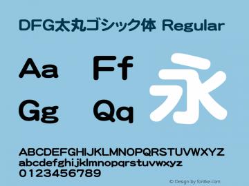DFG太丸ゴシック体 Version 2.00图片样张