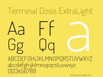 Terminal Dosis ExtraLight Version 1.007 Font Sample