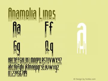Anamelia Lines Version 1.002;Fontself Maker 3.1.2图片样张
