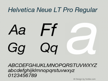 Helvetica Neue LT W05 56 Italic Version 2.00图片样张