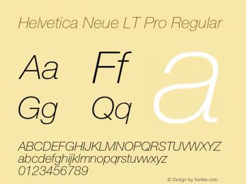 Helvetica Neue LT W05 36 Th It Version 2.00图片样张