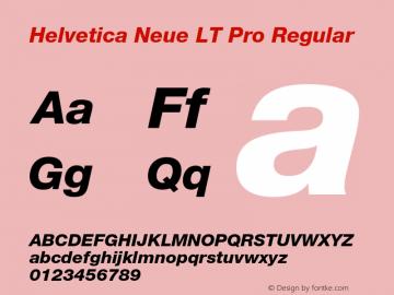 Helvetica Neue LT W05 86 Hv It Version 2.00图片样张