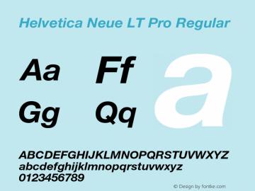 Helvetica Neue LT W05 76 Bd It Version 2.00图片样张