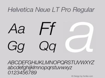 Helvetica Neue LT W05 46 Lt It Version 2.00图片样张