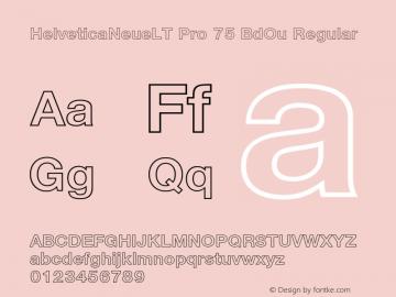 Helvetica Neue LT W05 75 Bd Ou Version 2.00图片样张