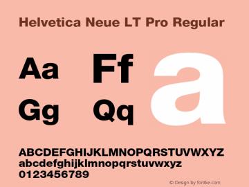 Helvetica Neue LT W05 85 Heavy Version 2.00图片样张