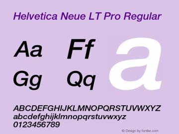 Helvetica Neue LT W05 66 Md It Version 2.00图片样张