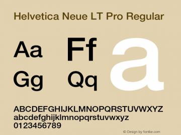 Helvetica Neue LT W05 65 Medium Version 2.00图片样张