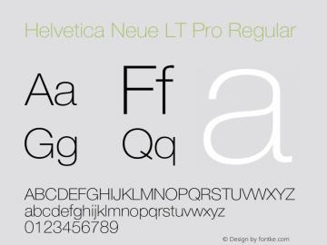 Helvetica Neue LT W05 35 Thin Version 2.00图片样张