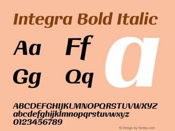 Integra Bold Italic Version 1.000图片样张