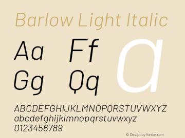Barlow Light Italic Version 1.408图片样张