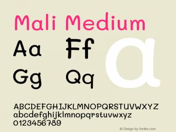 Mali Medium Version 1.000; ttfautohint (v1.6)图片样张