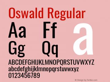 Oswald Regular Version 4.101; ttfautohint (v1.8.1.43-b0c9)图片样张
