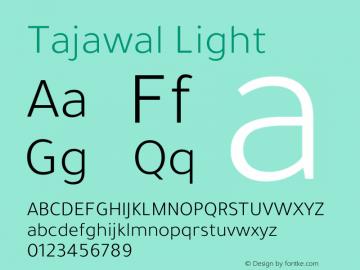 Tajawal Light Version 1.700图片样张