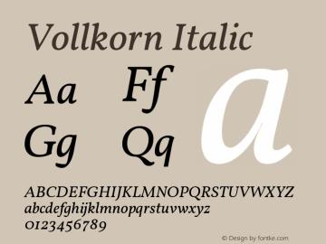 Vollkorn Italic Version 4.104图片样张