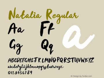Natalia Regular Version 1.000;PS 001.000;hotconv 1.0.88;makeotf.lib2.5.64775图片样张