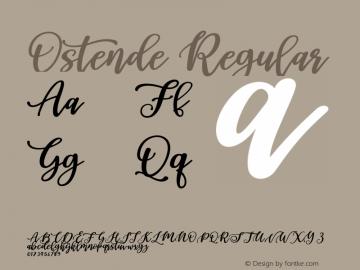 Ostende Regular Version 1.000;PS 001.000;hotconv 1.0.88;makeotf.lib2.5.64775图片样张