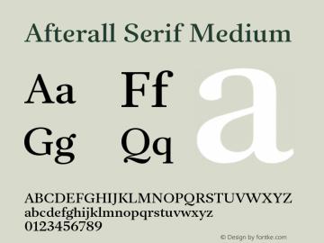 AfterallSerif-Medium Version 3.000;PS 3.0;hotconv 1.0.88;makeotf.lib2.5.647800图片样张