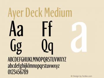 AyerDeck-Medium Version 1.1 2018图片样张