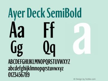 AyerDeck-SemiBold Version 1.1 2018图片样张