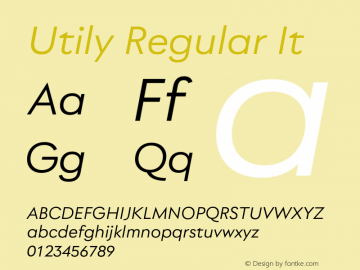 Utily Regular It Version 0.000;hotconv 1.0.109;makeotfexe 2.5.65596图片样张