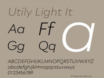 Utily Light It Version 0.000;hotconv 1.0.109;makeotfexe 2.5.65596图片样张