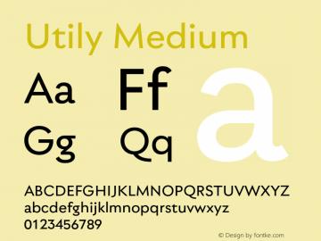 Utily Medium Version 0.000;hotconv 1.0.109;makeotfexe 2.5.65596图片样张