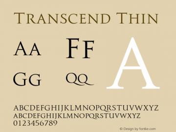 TranscendThin Version 1.000;hotconv 1.0.109;makeotfexe 2.5.65596;YWFTv17图片样张