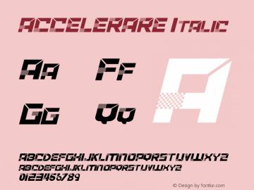 ACCELERARE Italic Version 1.002;Fontself Maker 3.1.2图片样张