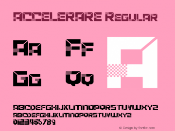ACCELERARE Version 1.002;Fontself Maker 3.1.2图片样张