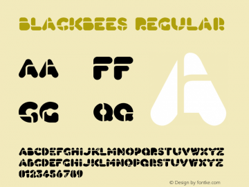 BlackBees OTF 1.000;PS 001.000;Core 1.0.29图片样张