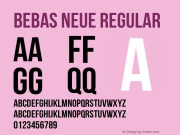 Bebas Neue Regular Version 1.300图片样张