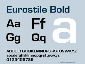 Eurostile Bold Version 1.51图片样张